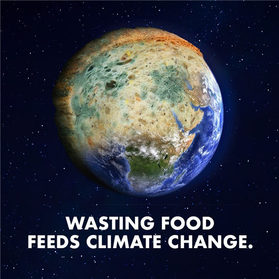 Image: Wasting food feeds climate change